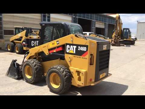 CATERPILLAR SKID STEER LOADERS 246DXPS2CA equipment video vdspmZZF_3s