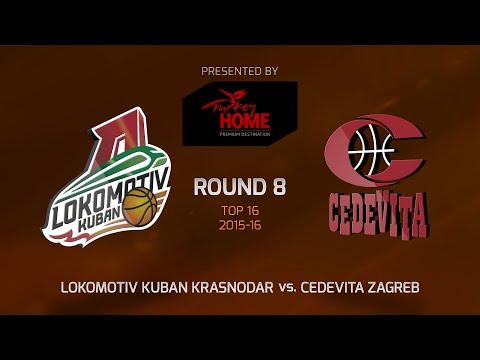 Highlights: Top 16, Round 8, Lokomotiv Kuban Krasnodar 87-63 Cedevita Zagreb
