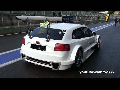 BRCC Audi A3 Silhouette at Spa Francorchamps - Curbstone track events