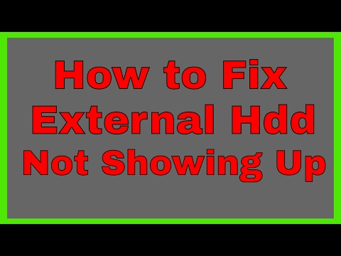 External Hard Drive not Showing Up in My Computer - This PC | How to Fix External Hdd not Showing Up