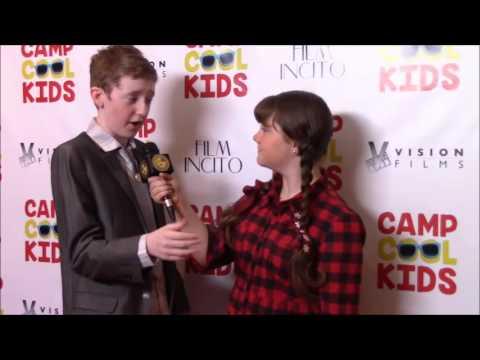 Reporter: Morgan B Bertsch interviews Connor Rosen who plays Spencer in the film Camp Cool Kids.