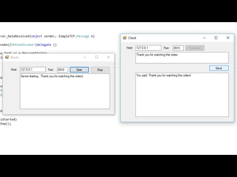 C# Tutorial -  TCP/IP Client & Server | FoxLearn