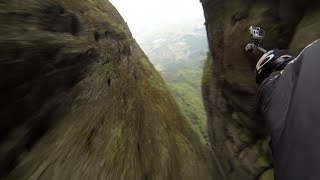 Flying Through 10ft Gab In Cliff