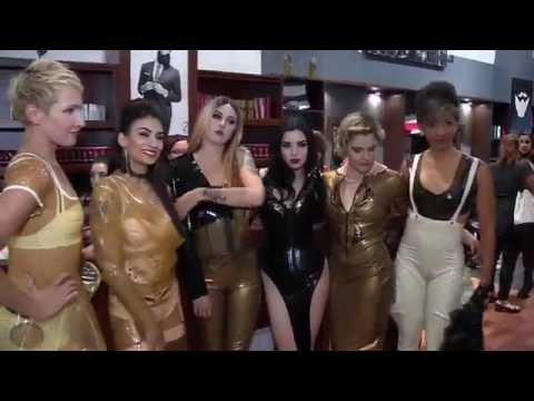 MONTREAL FETISH WEEKEND 2016 STREET FASHION REPORT LATEX KINK GLAM CATSUIT