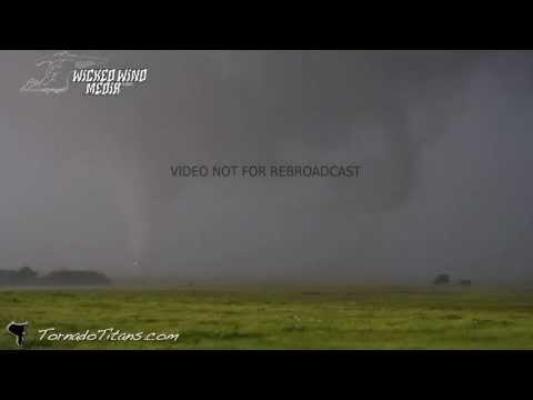 tornados - Brett and Brandon got extremely close to a violent tornadic circulation that produced multiple tornadoes in very close range... The team was hit by inflow je...