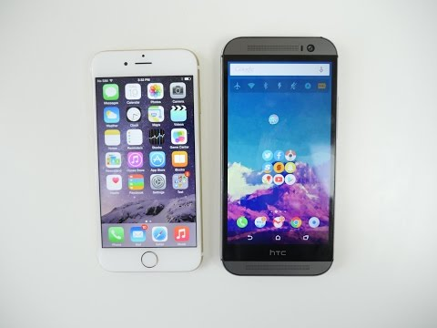 iPhone 6 VS HTC One M8 Comparison and SPEED TEST