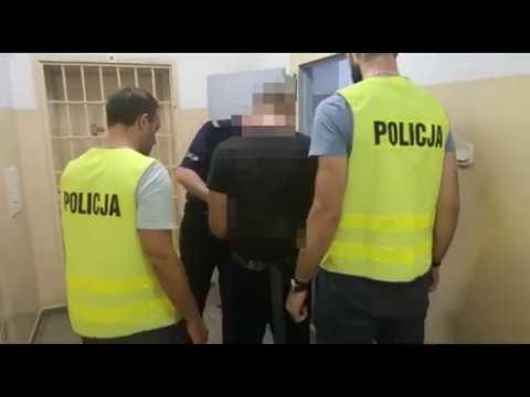 Wideo1: Zatrzymanie sprawcy napadu na bank w Lesznie