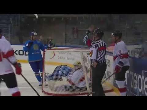 Видео матча ЧМ по хоккею Казахстан - Венгрия 5:0
