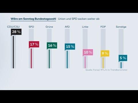 Umfrage: AfD und FDP legen zu - deutsche Wähler misstrauen der GroKo