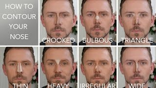 HOW TO CONTOUR THE 7 NOSE SHAPES!!!! by Wayne Goss