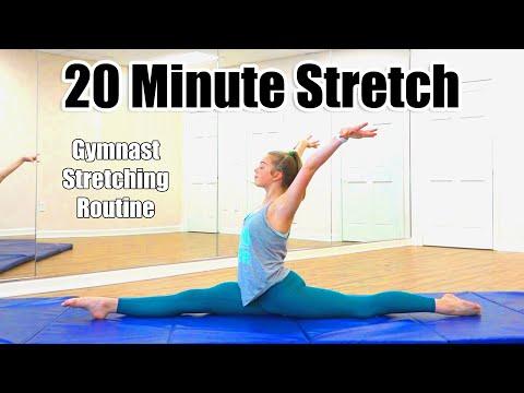 20 Minute Stretch | Gymnast Stretching Routine - Whitney Bjerken
