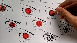 Video Drawing All Mangekyou Sharingan Forms | Evolution Of Sharingan | Kakashi Art MP3, 3GP, MP4, WEBM, AVI, FLV Juni 2019
