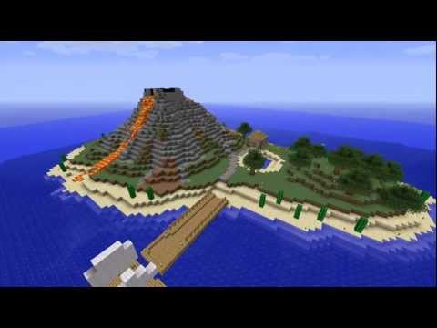 #1 Minecraft Timelapse Vulkaninsel