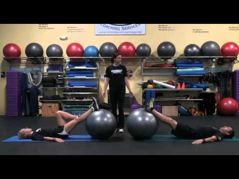 Stability Ball Leg Curls