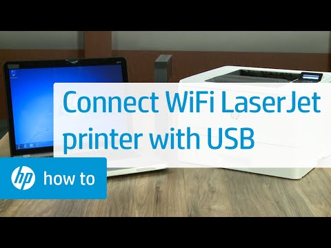 Connecting and Installing a Wireless HP LaserJet Pro Printer with a USB Cable