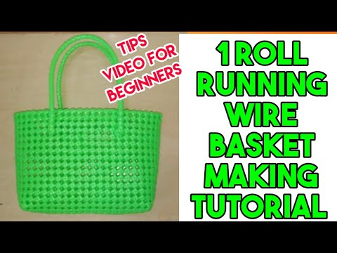 1 Roll Running Wire Basket Making Tutorial and tips [For Beginners]