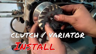 8. 50cc 49cc Scooter Performance Clutch and Variator install variator roller weights