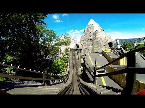 Tivoli Gardens Rutschebanen Roller Coaster POV Classic Wooden Scenic Railway видео