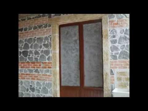 muro stampato e intonaco decorato di foti