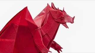 Origami Devil Dragon Time-lapse  (Jo Nakashima)