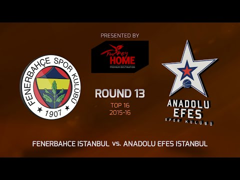 Highlights: Top 16, Round 13, Fenerbahce Istanbul 90-86 Anadolu Efes Istanbul