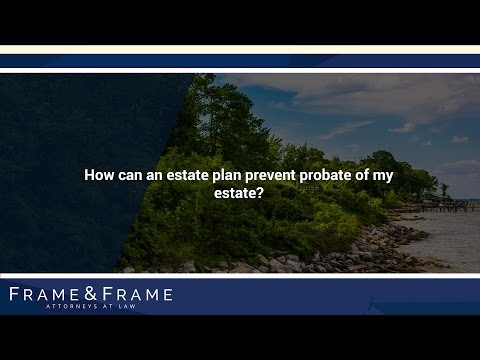 How can an estate plan prevent probate of my estate?