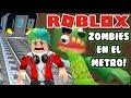 Zombies en el Metro | Escape The Subway Roblox | Juegos Roblox para niños