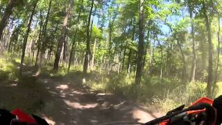 10. 2013 KTM XCF 450 First Ride in the Forest
