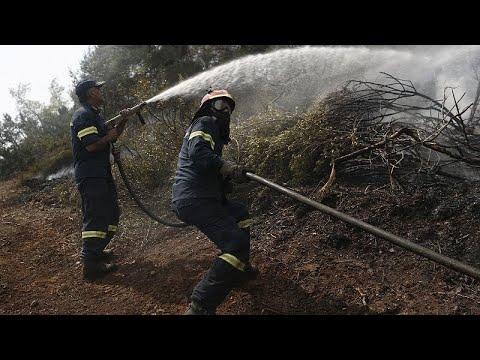 Εύβοια: Χωρίς ενεργό μέτωπο η φωτιά