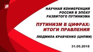 Доклад Людмилы Кравченко на конференции «Россия в эпоху развитого путинизма» от 31 мая 2018 года