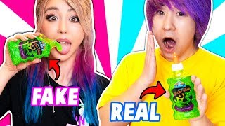 REAL SLIME VS FAKE SLIME CHALLENGE! by The Wonderful World of Wengie