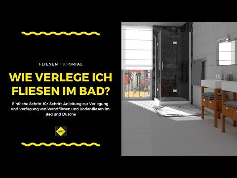 Wandfliesen und Bodenfliesen in Bad und Dusche verlegen und verfugen - NEU - SAKRET Heimwerker TV