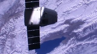 The SpaceX Dragon CRS-10 cargo spacecraft was captured with the International Space Station's robotic Canadarm2 by Expedition 50 Commander Shane Kimbrough (N...