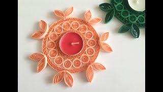 DIY paper quilling candle holder