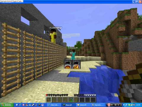 Batalla con arcos y flechas en Minecraft