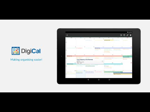Video of DigiCal+ Calendar