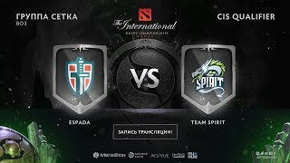 Espada vs Team Spirit, The International CIS QL, game 1 [Alohadance, Maelstorm]