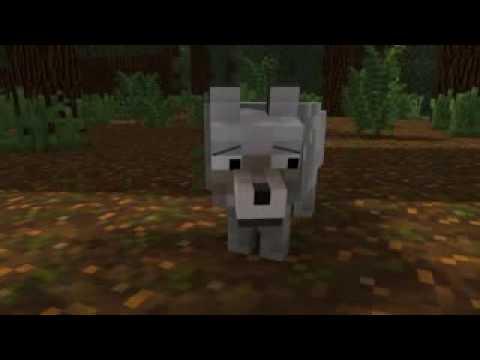 Minicraft short animation wolf life