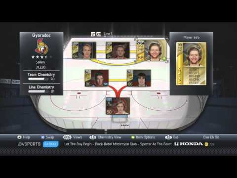 NHL 14: HUT | Overpowered Team Build (200k- My Favourite Players)