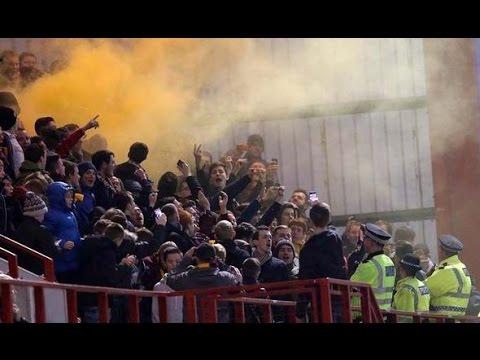 Motherwell Fans Away at Rivals Hamilton