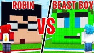 CASA di ROBIN contro BEAST BOY di TEEN TITANS GO - Minecraft ITA