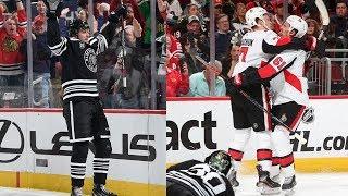 Senators, Blackhawks combine for eye-popping nine goals in 1st by NHL