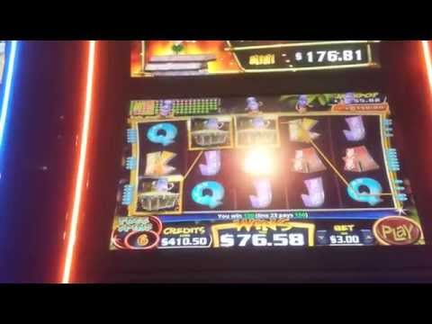 Conga Party Slot Machine - $3 Max with 4 Bonuses in 1 Video