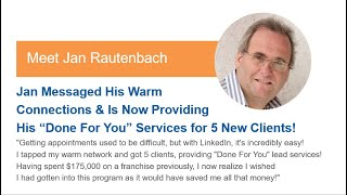 "How Jan Is Now Providing His ""Done For You"" Services for 5 New Clients!"