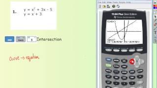 Solving Linear Quadratic System wTI basic example