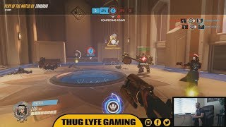 "This Overwatch Gameplay Video features a single multiplayer match consisting of Funny / Epic Moments, Fails, Kills, and Deaths.The funniest moment occurs after an enemy Reaper almost wipes out our entire team using his Ult. At the last possible second our Mercy (played by Zandruh) comes flying in to pull off a clutch resurrection. We then take back control of the objective and go on to win the match.*SPONSORED BY EVIL ENERGY*Turn Any Drink Into An Energy DrinkUse Promo Code: ""THUGLYFE"" on AmazonIf you enjoyed this Funny Overwatch Gameplay Video, then feel free to: Comment / Share / Thumbs Up / Subscribe*OPERATION SUPPLY DROP*https://fundraise.operationsupplydrop.org/thuglyfegaming*SOCIAL NETWORKS*Instagram - http://www.instagram.com/thuglyfegamingFacebook - http://www.facebook.com/thuglyfegamingTwitter - http://www.twitter.com/thuglyfegamingMixer - https://mixer.com/ThugLyfeGamingI here VERIFY that I have PURCHASED and OWN receipt proof for the USAGE RIGHTS to all MUSIC and SOUND content used within this video. The following files were used:www.20DollarBeats.com - ""Mission To Get Paid"" - Payments made out to RJ Interactive - Contributing Artist: Kustom Beatzwww.20DollarBeats.com - ""Nukoa Battle"" - Payments made out to RJ Interactive - Contributing Artist: Kustom Beatzwww.20DollarBeats.com - ""Buzzy"" - Payments made out to RJ Interactive - Contributing Artist: Kustom Beatz"