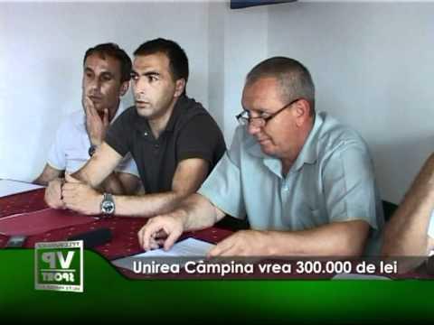 Unirea Câmpina vrea 300.000 de lei