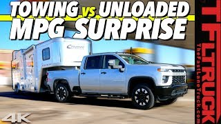 How Efficient Is the New Chevy Silverado HD Gasser? Hint: There's a HUGE Difference Towing & Not! by The Fast Lane Truck
