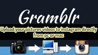 Hi everyone, in this quick tutorial I am going to show you how to Upload your pictures videos to instagram directly from pc or mac  for free.----------------------------------------------------------------------------------------------------------- Download link  : http://gramblr.com-----------------------------------------------------------------------------------------------------------Paypal Donation(1 dollar or less can be nothing for you but it will certainly help to get new equipment and continue working, so please if you feel that I deserve it don't hesitate and donate and let us grow together )----------------------------------------­­­­­­­­---------------------------------­-­-­-­-­-­-­-­--------------------------­-instagram: https://www.instagram.com/wajdi1987/Facebook : https://www.facebook.com/pr0t3ch/Twitter:https://twitter.com/g33kyworldWebsite :http://www.t3chpro.com/-----------------------------------------------------------------------------------------------------------Upload your pictures/videos to instagram directly from pc /mac 2017Upload your pictures/videos to instagram directly from pc /mac 2017Upload your pictures/videos to instagram directly from pc /mac 2017Upload your pictures/videos to instagram directly from pc /mac 2017Upload your pictures/videos to instagram directly from pc /mac 2017Upload your pictures/videos to instagram directly from pc /mac 2017Upload your pictures/videos to instagram directly from pc /mac 2017applemicrosoftwindowsmac os