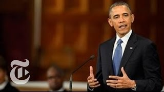 At Church Service, Obama Praises Boston After Marathon Explosions